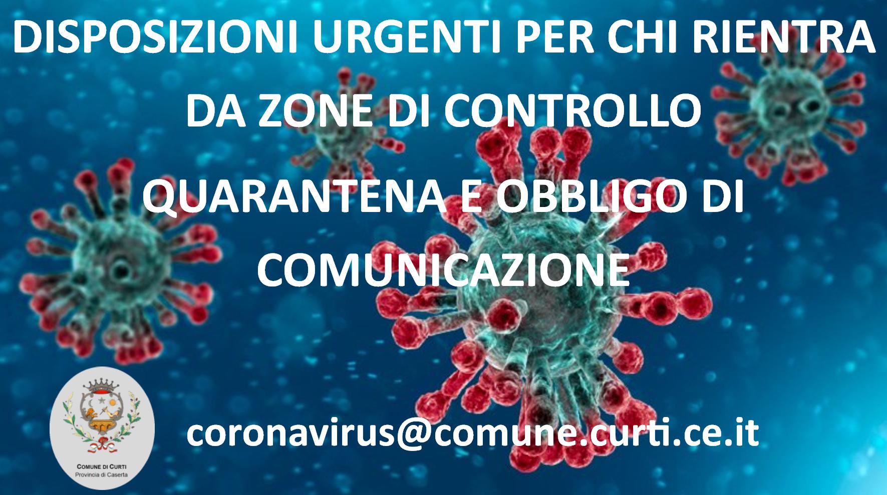 Comunicazioni e Info coronavirus